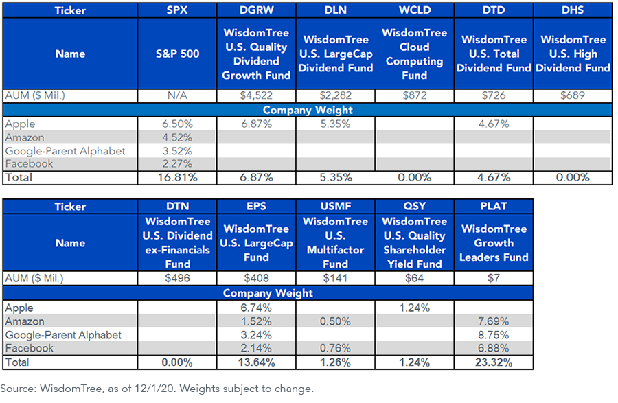 Figure 1_Company Weights in Our ETFs