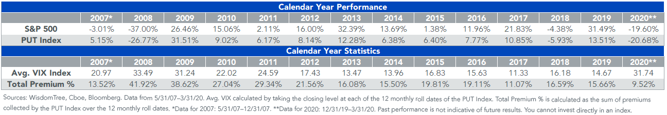 PUT SP500 calendar year performance_v2