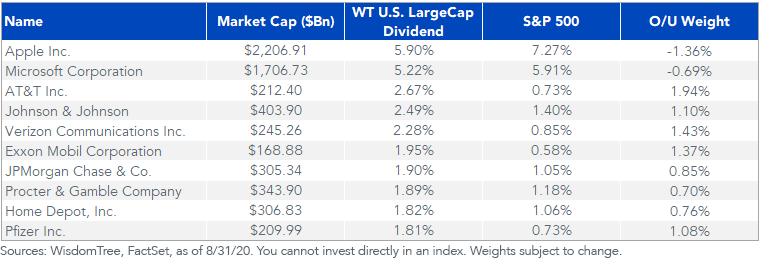Figure 5_Top 10 WisdomTree Index Weights