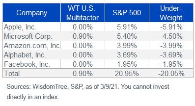 Figure 5_Top 5 SP 500 Index Weights